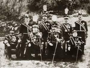 [17] 일본 황태자 방한 기념 사진, 1907년